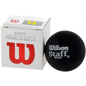 Мячи для сквоша Wilson Staff Squash Ball double yellow