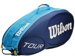 Чехол Wilson Tour molded 6 pack blue